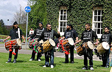 The Dhol Enforcement Agency in live performance